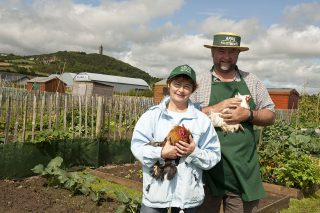 Maurice-&-Judith-looking-after-the-Chickens